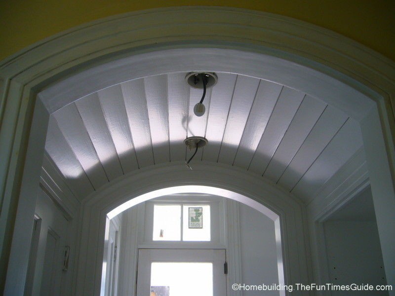 Two distinctive barrel vaulted ceilings the homebuilding for What is a vault ceiling