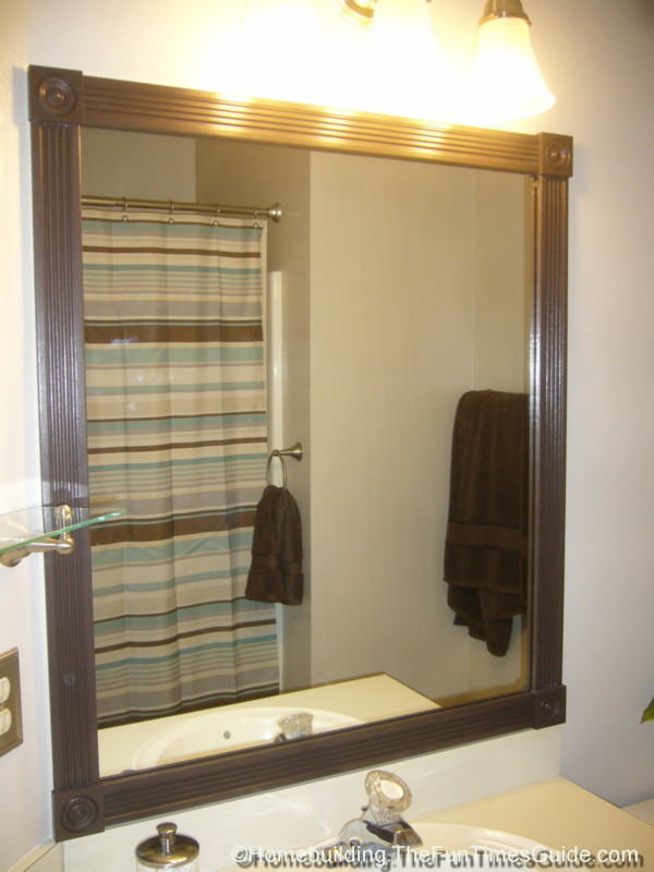 How To Build A Custom Frame For A Bathroom Mirror The Homebuilding - Custom framed bathroom mirrors