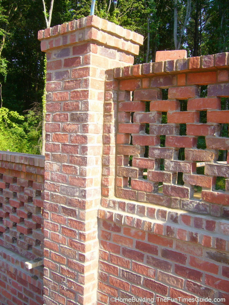 Pierced brick walls a classic screen alternative fun for Designs for brick garden walls