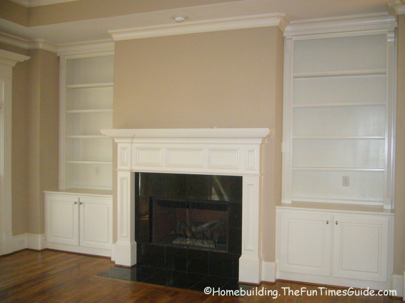 Woodwork Built In Bookcase Fireplace Plans PDF
