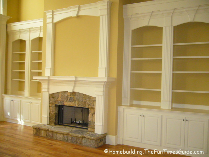 Built in bookshelves add a quality touch to custom homes for Homebuilding com