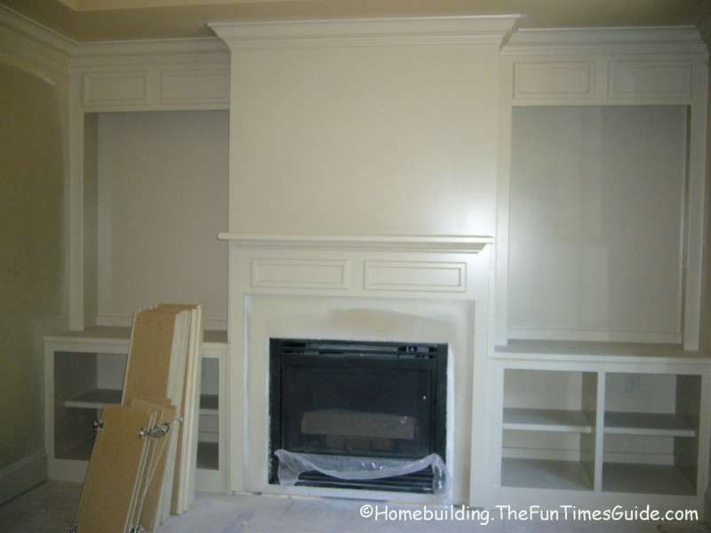 fireplace bookcase designs
