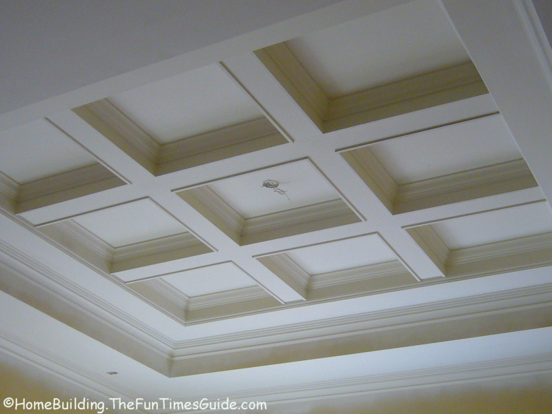 Stunning coffered ceiling plans ideas home plans for Coffered ceiling styles