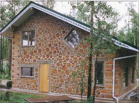 Building a cordwood house beautiful scenery photography - How to build a cordwood house ...