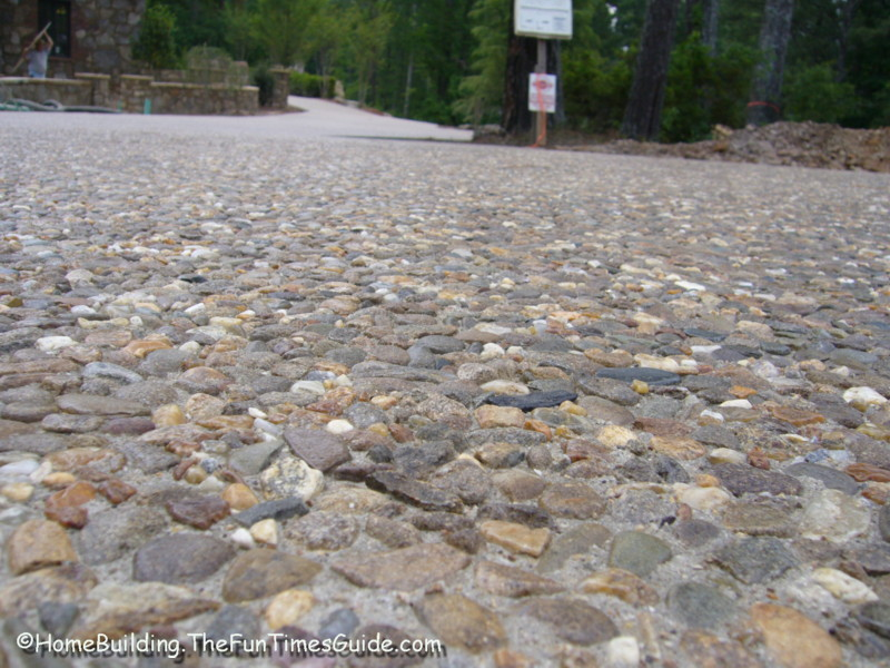 Customize your new driveway by incorporating embedded for New concrete driveway