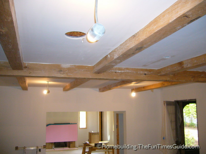 Exposed beam ceiling craftsmanship english cottage style for Exposed beam ceiling