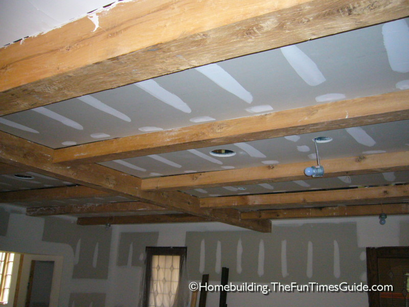 Exposed beam ceiling craftsmanship english cottage style for Exposed wood beam ceiling