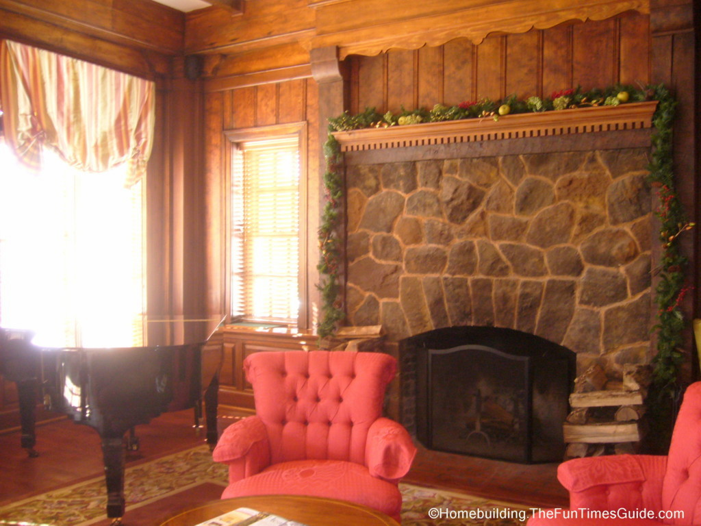 giant fieldstone fireplace | The Lobby of The Willcox Sets The Mood | The Homebuilding ...