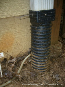 flexible_tubing_condensate_line connected_to_gutter_drain.JPG