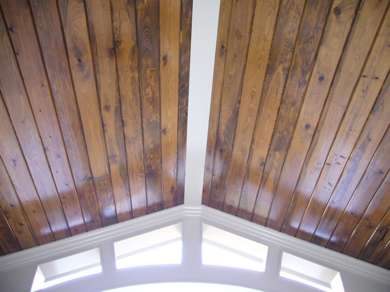 European style home in the park at anderson farm the for Balcony ceiling