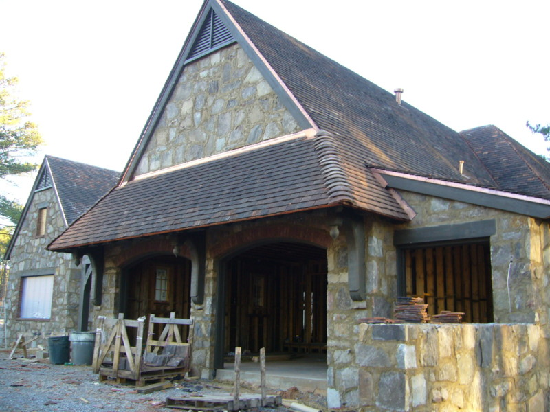 Reclaimed antique terra cotta roof tile installation on for Jerkinhead roof construction