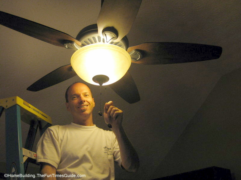 How to choose and install a ceiling fan the homebuildingremodel guide install a ceiling fang aloadofball Image collections