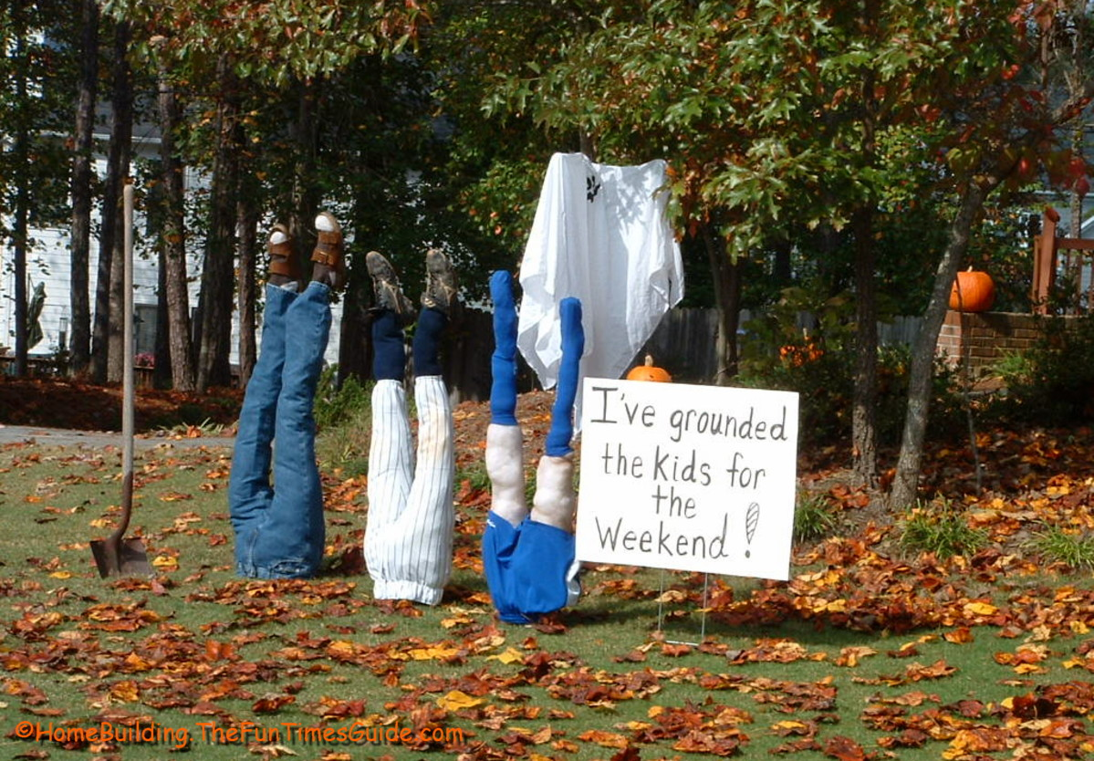 Kids being bad ground them for halloween this year fun for Funny home decor