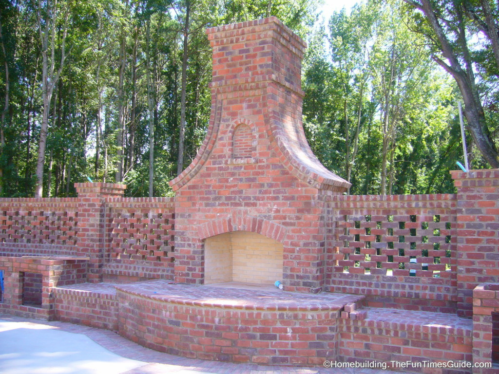 Check out this gorgeous outdoor fireplace. It