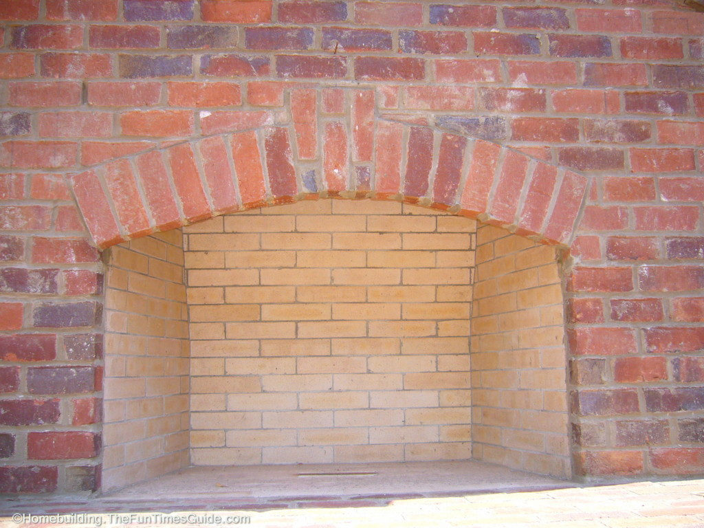 Fire Brick Red : An outdoor fireplace a focal point for entertaining the