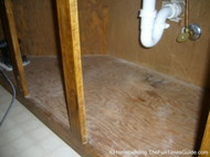 what it looked like before painting bathroom cabinets in our home