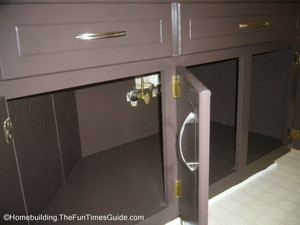when refinishing bathroom cabinets if you want a really professional look be sure to paint the interior