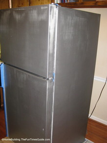 refrigerator-after-first-coat-of-stainless-steel-paint.JPG