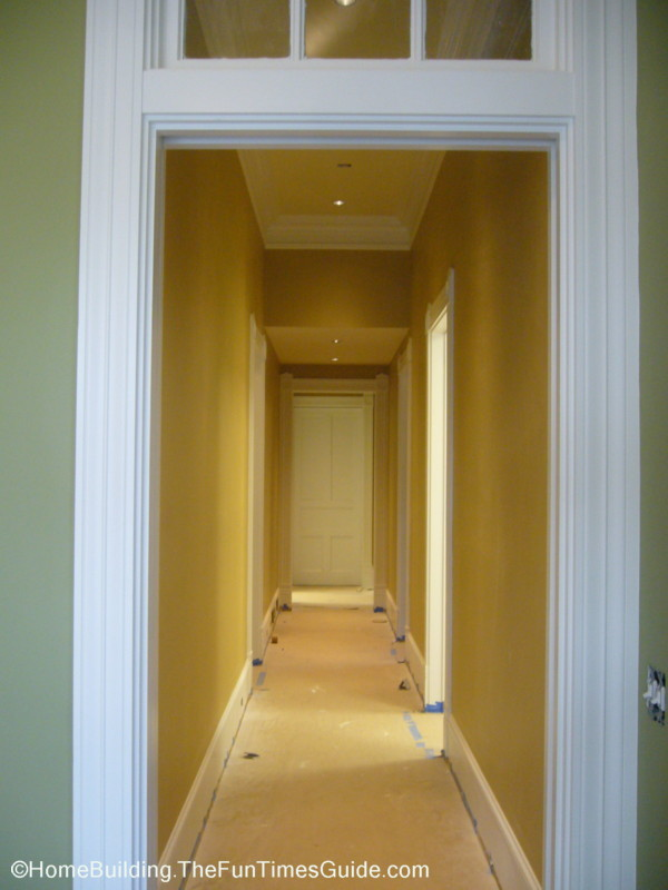 look from the master bedroom with the library door at the end of the ...