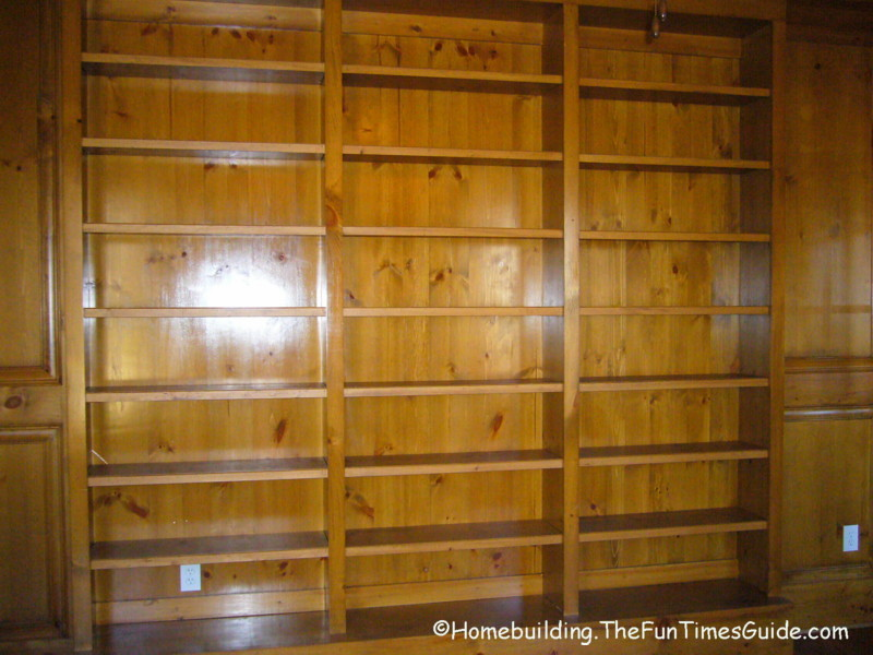 jpg stained_and_lacquered_built in bookshelves_in_libraryjpg - Library Built In Bookshelves