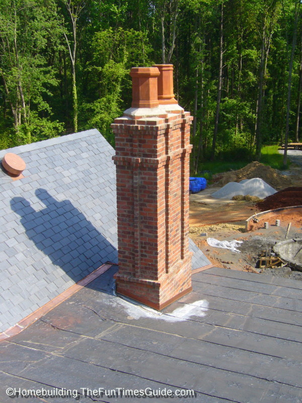 Victorian Style Chimney And Chimney Pots The